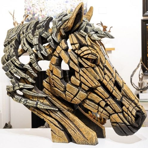 Horse Bust (Palomino) Edge Sculptures
